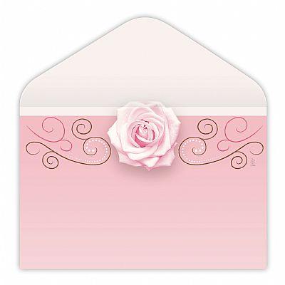 56 envelopes rose w scroll 500 bx